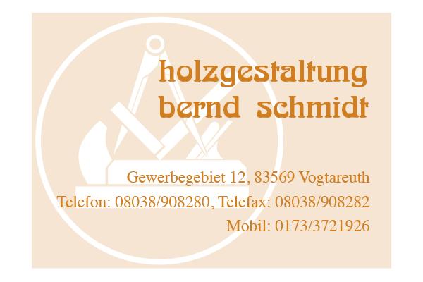Holzgestaltung Schmidt